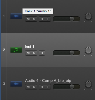 Workflow: Naming of your Logic Pro X content